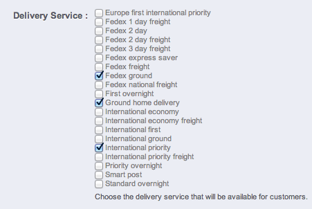 Checkout page shows additional (unwanted) delivery methods