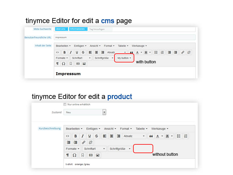 Tinymce Editor Is Different In Product Page And Cms Page - Core ...