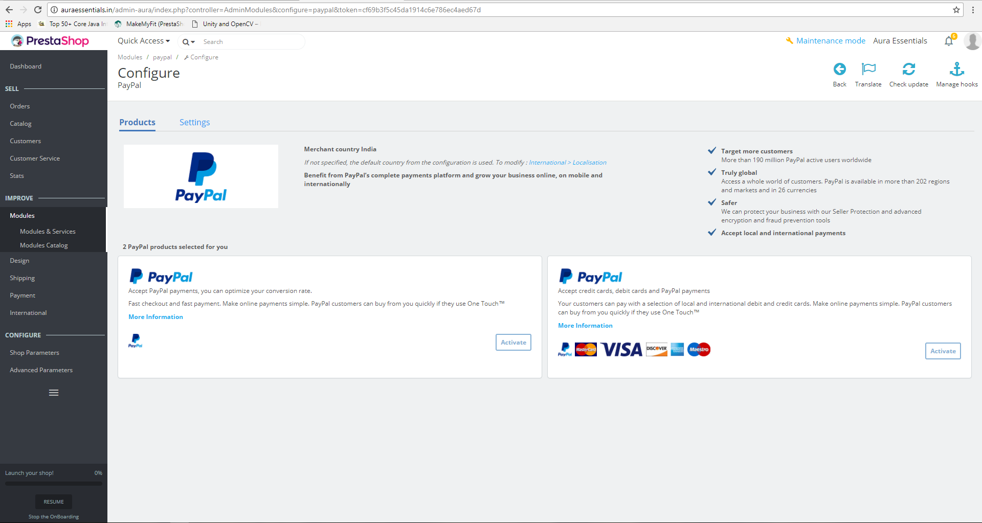 PayPal Official Module 4.1.0 no option to add API credentials ...