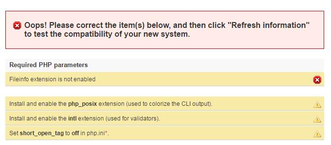 Resolved: Fileinfo extension is not enabled - Installing PrestaShop