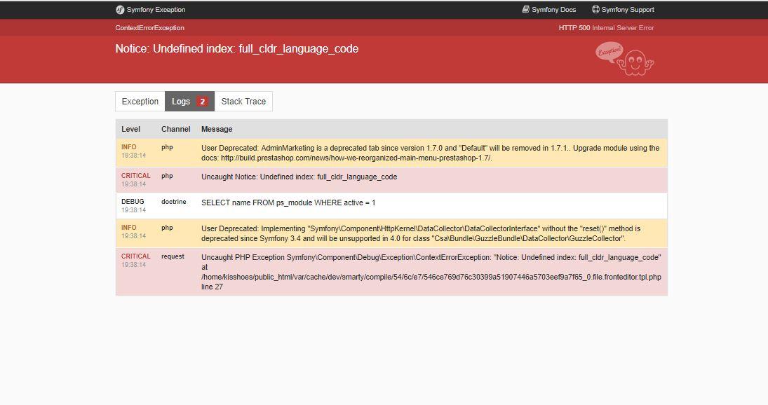 Solved] Prestashop 1 7 Access denied as Admin in BO - Bug reports