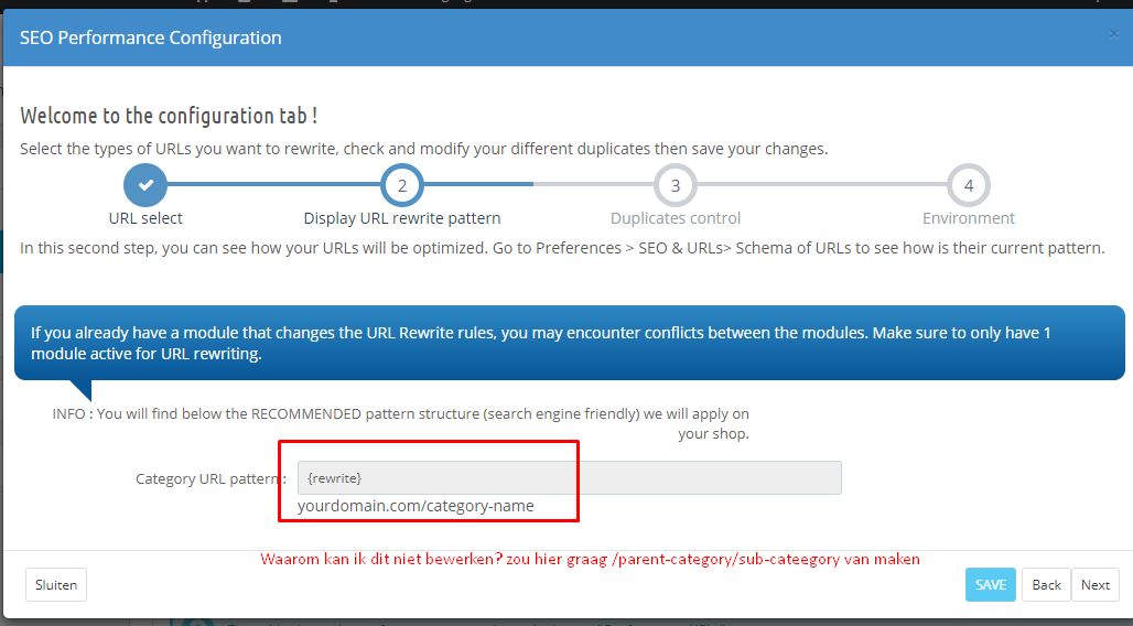module SEO Performance (URL Cleaner) - Addons, modules and