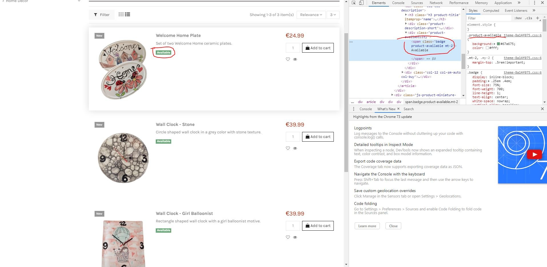 Enable ordering out of stock products - Configuring and