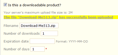 Downloadable product shows 0 byte after download