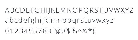 font Open Sans